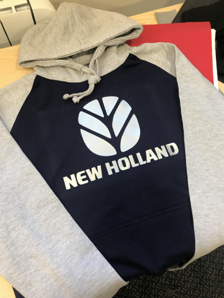 Navy/Grey Contrast New Holland Hoodie
